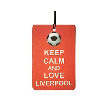 Gardez votre calme et aime Liverpool Car Air Freshener