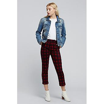 Louche Jaylo Plaid Trouser Red