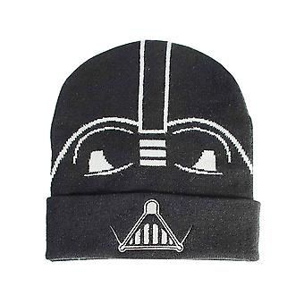 Star Wars Beanie Hat Classic Vader Helmet Logo new Official Black
