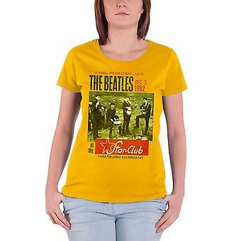 Les Beatles Star Club Hamburg Womens officiel nouveau jaune Skinny Fit T Shirt