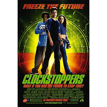 Clockstoppers (Advance Double-Sided) (2002) Cartel original del cine