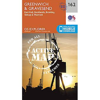 Greenwich and Gravesend (September 2015 ed) by Ordnance Survey - 9780