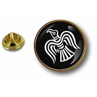 Kiefer PineS Pin Abzeichen Pin-Apos; s Metall Knopf Rabe Flagge Viking Vinland Odin