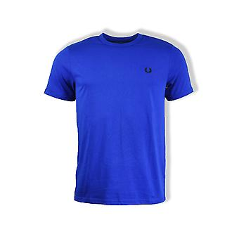 Fred Perry Ringer Short-Sleeved T-Shirt (Bright Regal)