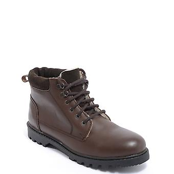 Chums Mens Leather Boots Fleece Lined