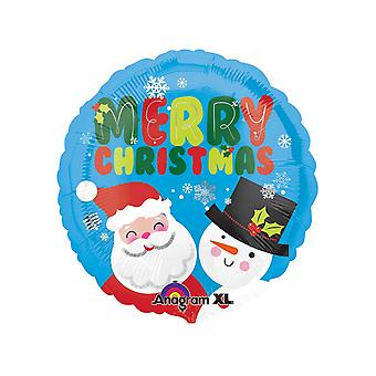 Anagram Santa & Snowman Christmas Balloon