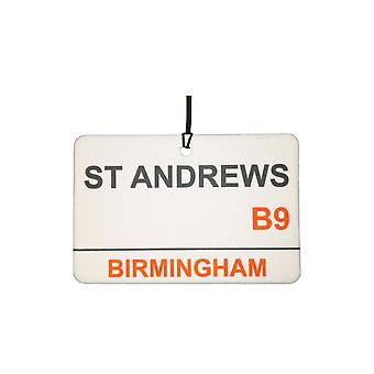 Birmingham City / St Andrews Street Sign bil Air Freshener