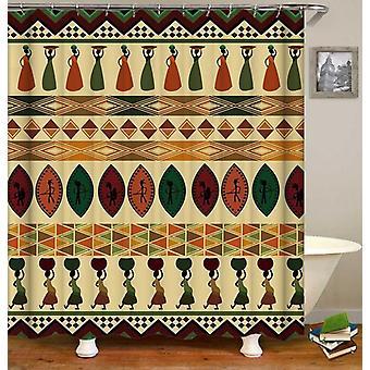 Multi farget afrikanske ornamenter dusj Curtain