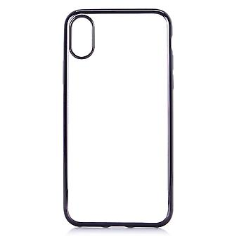 Hull For IPhone X Transparent Black Contour