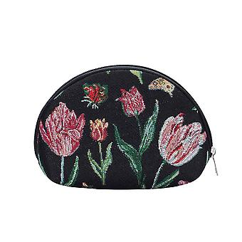 Marrel's tulip black cosmetic bag by signare tapestry / cosm-jmtbk