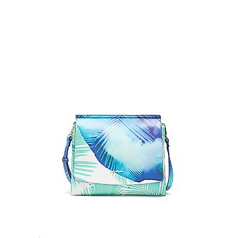 Desigual Women's Blue Palms Amberes Reversible Bag