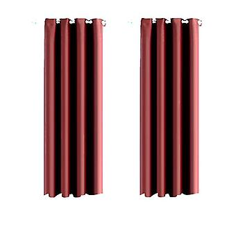 1 Pair Blockout Curtains Panels 140X160cm