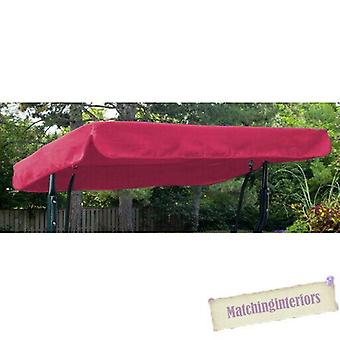 Pink Water Resistant 3 Seater Replacement Canopy for Garden Hammock Swing Seat