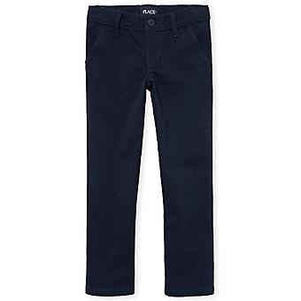 The Children's Place Girls' Little Skinny Uniform Pants,, Tidal 5419, Size 5