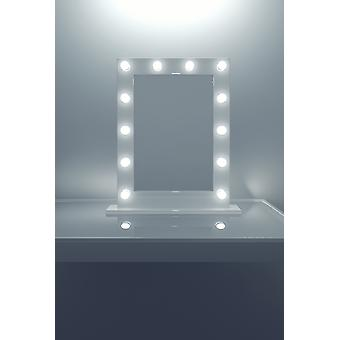 Anastasia White High Gloss Mirror (średni) k113LEDEN