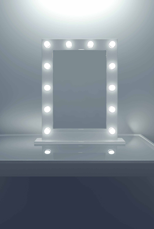 Anastasia White High Gloss Mirror (Medium) k113LEDEN