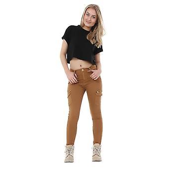 Slim Skinny Stretch bestrijding Cargo broek broek bijgesneden korte poot