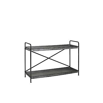 Light & Living Shelving Unit 2 Layers 124x41.5x91.5cm Bequia Zinc