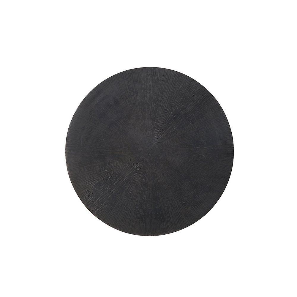 Table latérale légère et vivante 40x43cm Zuco Star Bronze-Matted Noir