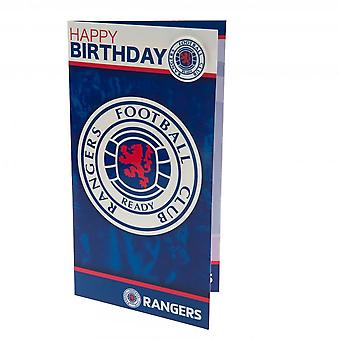 Rangers FC Birthday Card And Badge