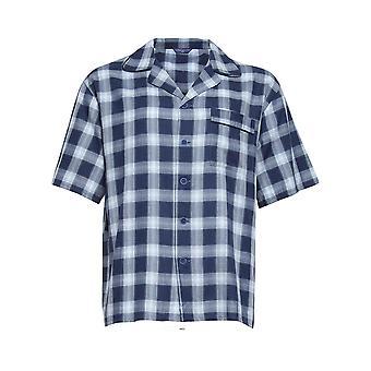 Cyberjammies 6450 Men's Billy Blue Check Cotton Woven Pyjama Top