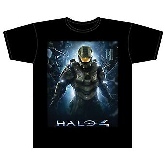 Halo 4 Wake Up John Black Male T-Shirt