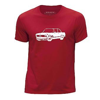 STUFF4 Chłopca rundy szyi samochód Shirt/Stencil Art / 2002 Turbo/czerwony