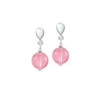 ikuinen kokoelma iloinen vaaleanpunainen tšekki lasi pudota clip korvakorut