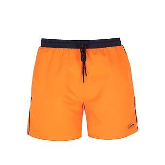 BOSS Bodywear Starfish Neon Orange Swim Shorts