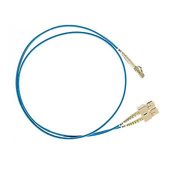 Lc Sc Om4 Multimode Fiber Optic Cable Blue