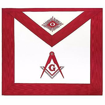 Masonic blue lodge master mason apron red