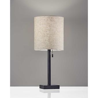 Mørk bronze metal bordlampe