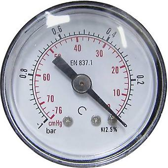 Manómetro ICH 306.40.-1 Conector (medidor de presión): Parte posterior -1 hasta 0 bar Rosca externa 1/8 1 ud(s)