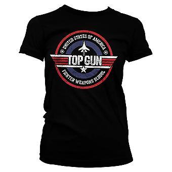 Women's Top Gun Distressed Fighter Weapons School T-Shirt
