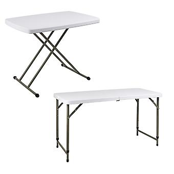 Garden BBQ Party Catering Trestle Folding Table (Adjustable Height 2.5ft or 4ft)