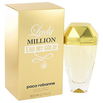 Lady Million Eau My Gold By Paco Rabanne EDT Spray 80ml