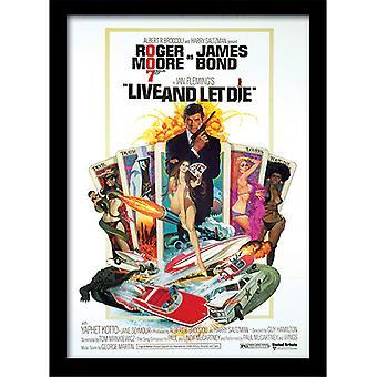 James Bond 007 Live & Let Die One Sheet Framed Plate 30*40cm
