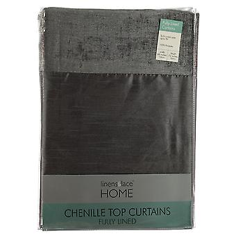 Linens and Lace Unisex Chenille Top Curtains
