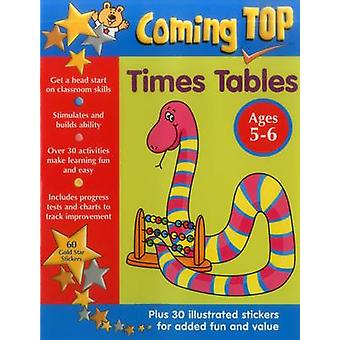 Coming Top - Times Taulukot - Ages 5-6 - 60 Gold Star Tarrat - Plus 30