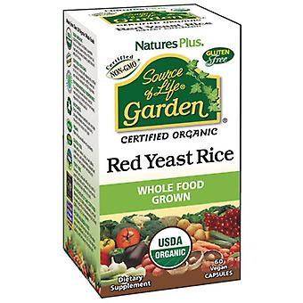 Nature's Plus Source of Life Garden Red Yeast Rice 600mg VCaps 60 (30738)