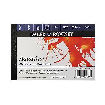 Daler Rowney Aquafine Watercolour Postcard Pad (12 Sheets)