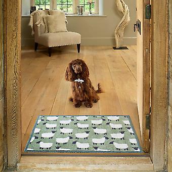 Flock Sheep Doormats In Green By Turtlemat