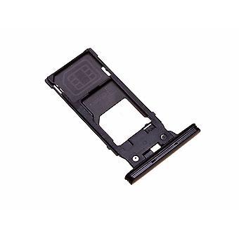 Bandeja original sony Xperia XZ2 Bandeja de soporte de tarjeta SIM en negro ? iParts4U