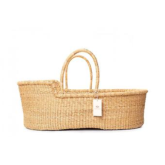 Cosy Coco Natural Handwoven Baby Moses Basket & Mattress | Pampas