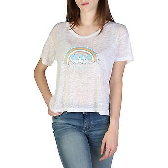 Woman cotton short t-shirt round t-shirt top ae28695