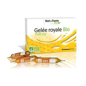Organic Royal Jelly 20 ampoules of 10ml