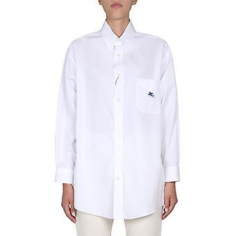 Etro 190358004990 Women's White Cotton Shirt