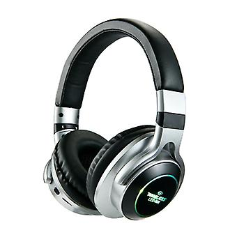 HANXI Wireless Headphones Bluetooth Wireless Headphones 3D Stereo Gaming Silver