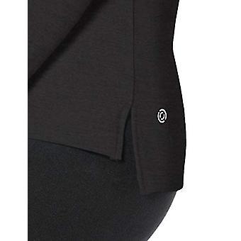 Marke - Core 10 Standard Damen's LS 1/4 Zip, schwarz, Mittel