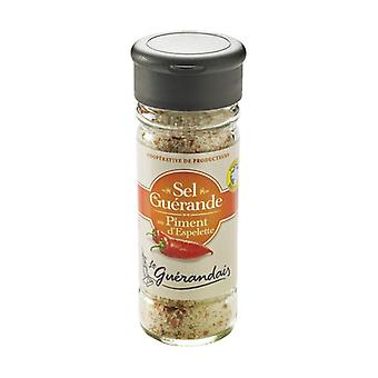 Fine salt flavored with salted Espelette pepper 90 g of powder